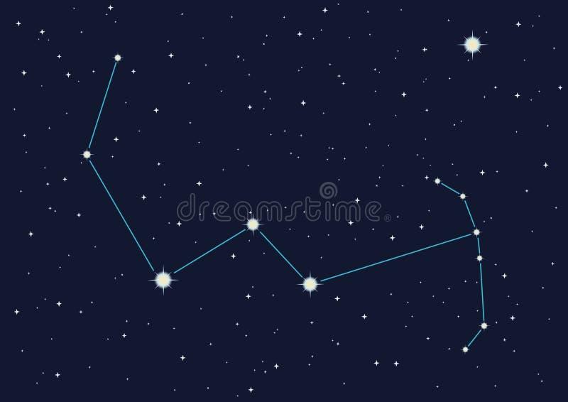 gwiazdozbiór Oriona royalty ilustracja