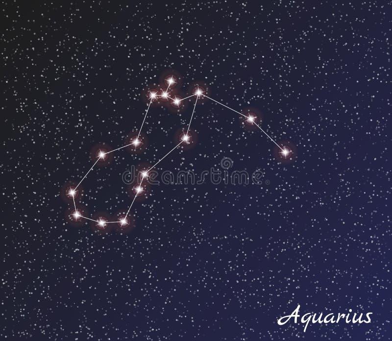 Gwiazdozbioru Aquarius royalty ilustracja