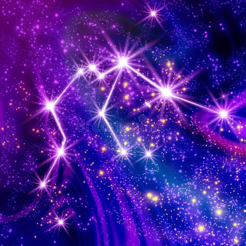 Gwiazdozbioru Aquarius ilustracji