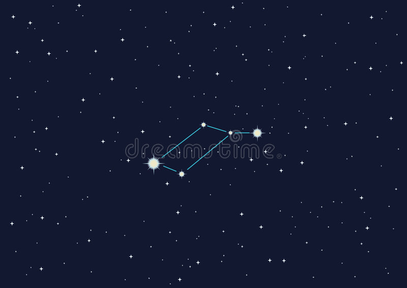 gwiazdozbioru lyra ilustracja wektor