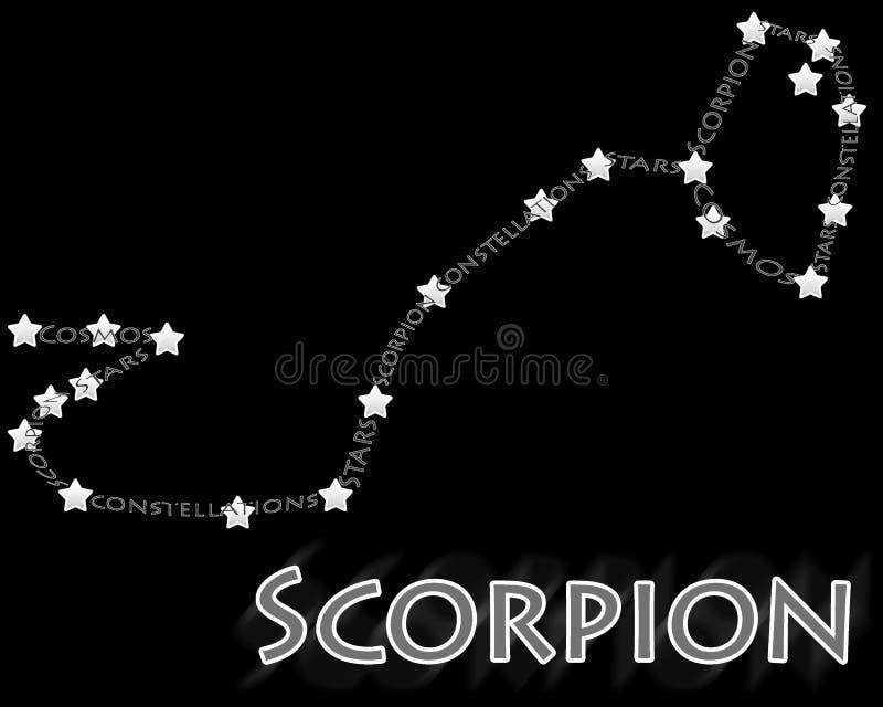 gwiazdozbioru skorpionu scorpius ilustracji