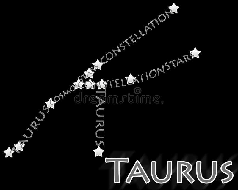gwiazdozbioru taurus royalty ilustracja