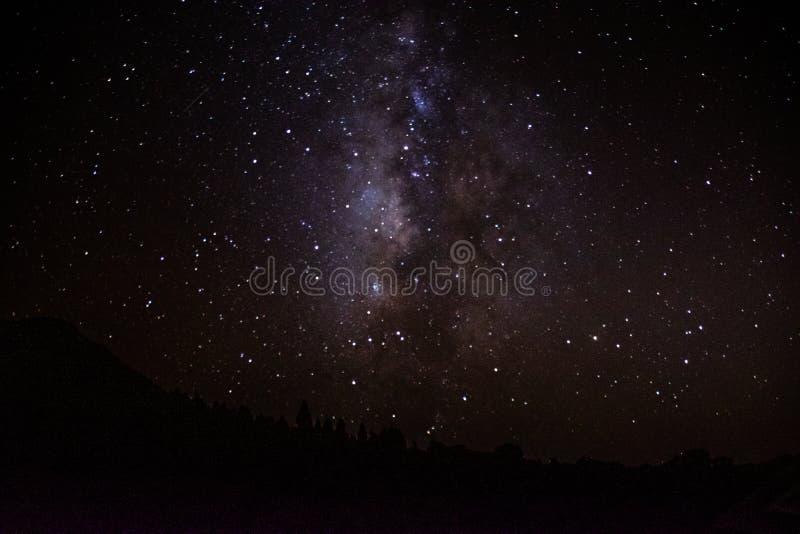 Gwiazdozbiory od Mirador Astronomiczny LLano Del Jable i, los angeles Palma, Canarys wyspy, Hiszpania fotografia royalty free