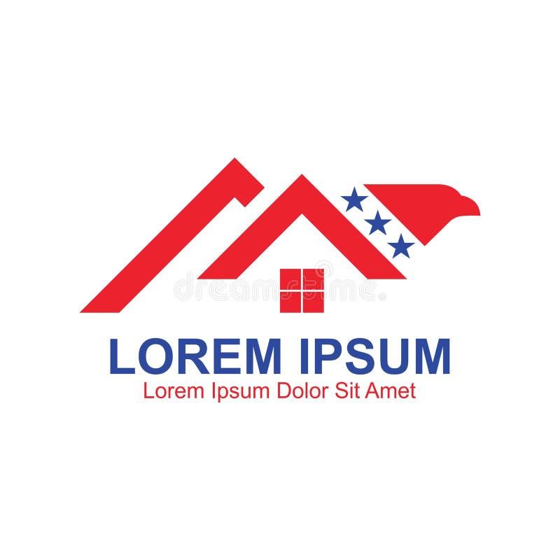 Gwiazdy Eagle domu logo zdjęcie stock