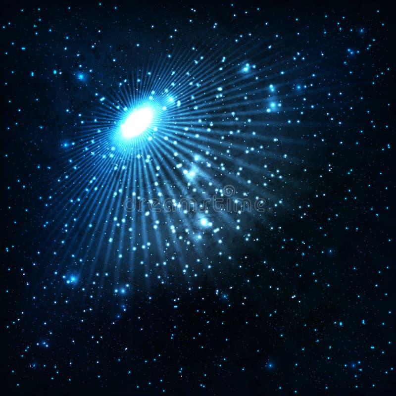 Gwiazdy i galaxies royalty ilustracja