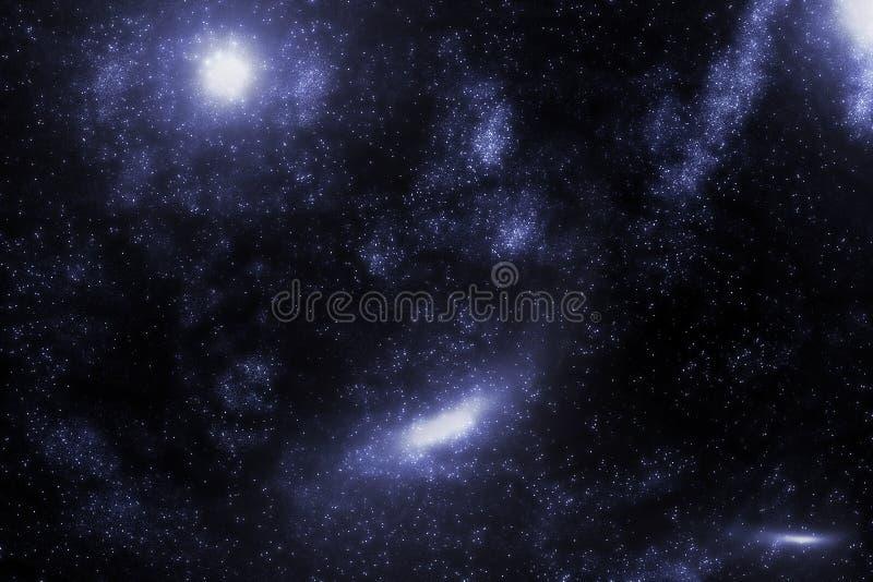 Gwiazdy i galaxy nieba nocy astronautyczny gwiaździsty tło Wszechświat wypełniający z gwiazdami ilustracyjnymi royalty ilustracja