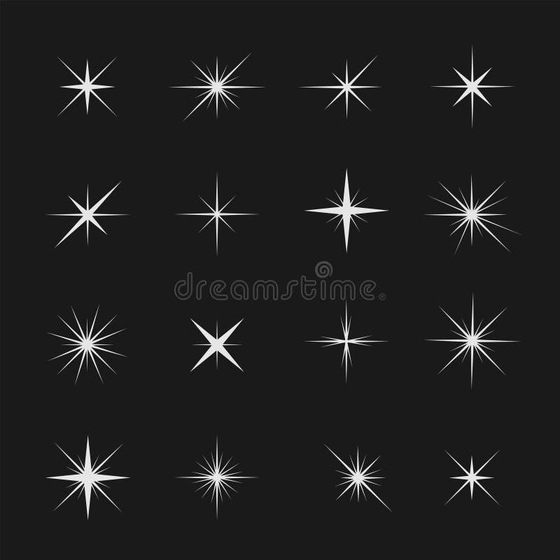 Gwiazdy i iskry ilustracji