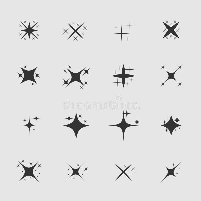 Gwiazdy i iskry ilustracja wektor