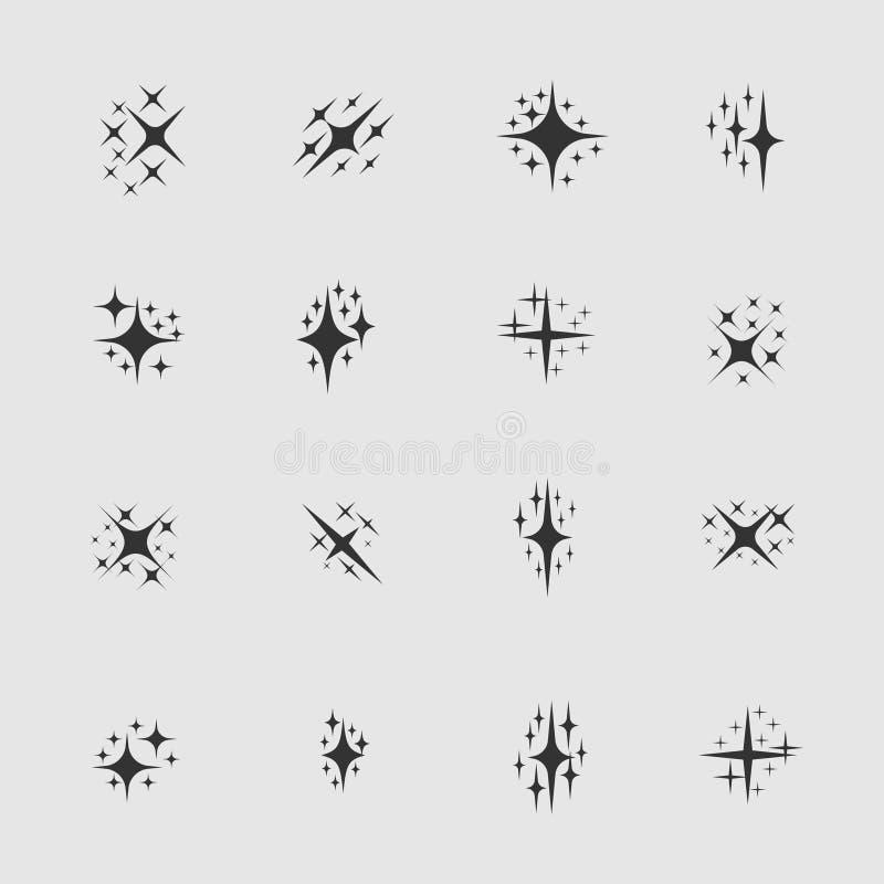 Gwiazdy i iskry royalty ilustracja