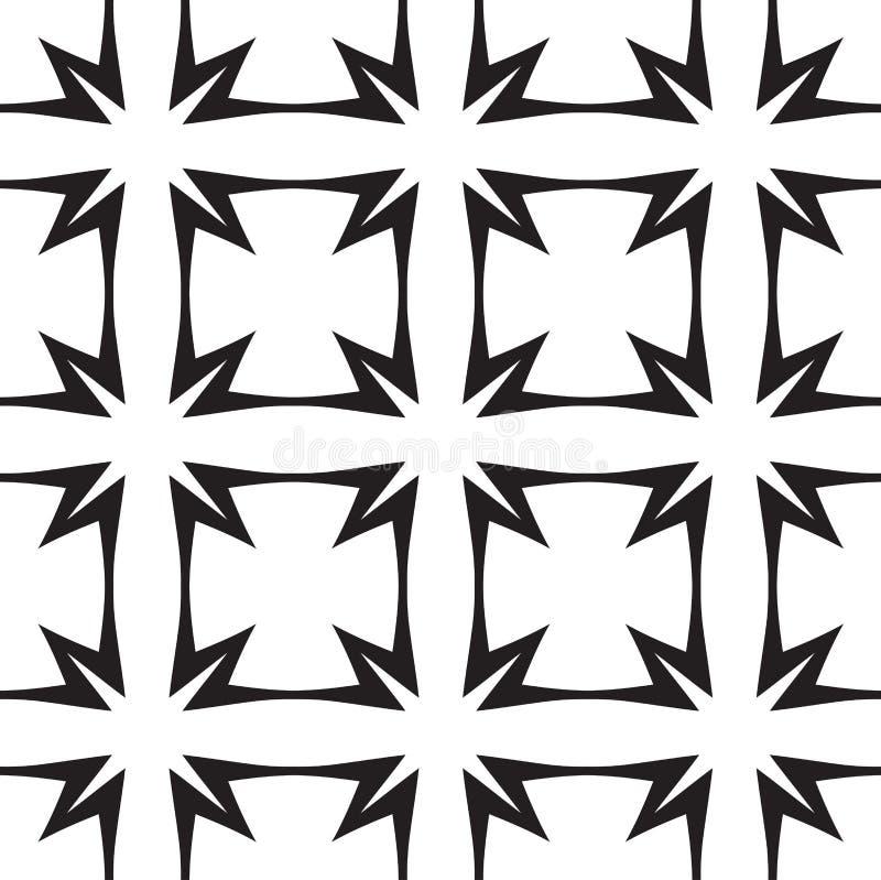Gwiazdy i krzyże, Abstrakcjonistyczny Wektorowy Bezszwowy wzór. ilustracji