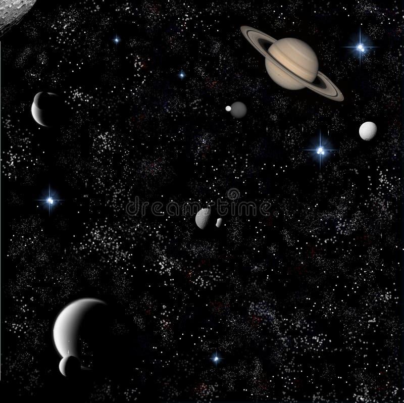 Gwiazdy i planety ilustracji
