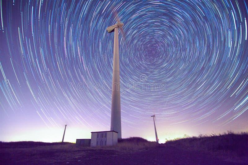 Gwiazdy i wiatrowi generatory obraz stock