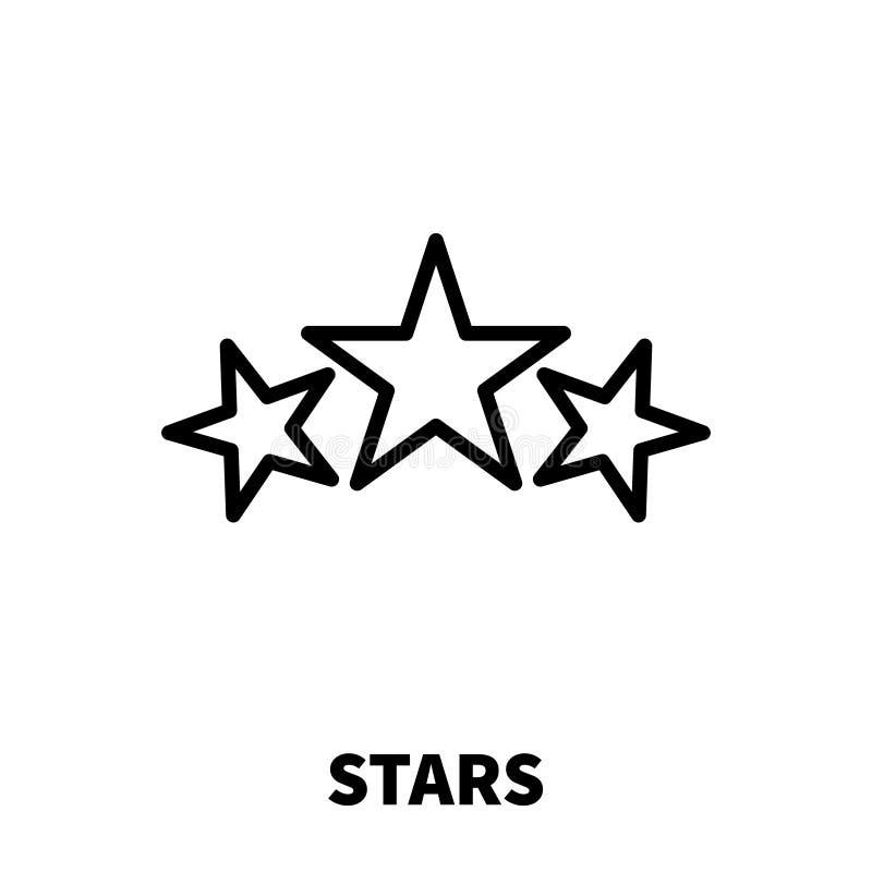 Gwiazdy ikona lub logo w nowożytnym kreskowym stylu ilustracji