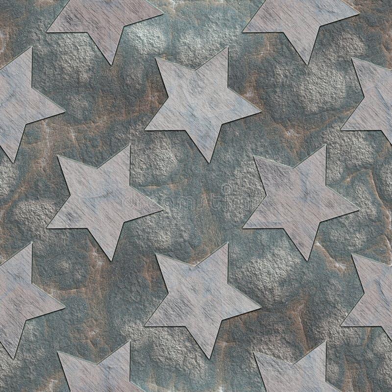gwiazdy Kamienia bezszwowy wzór royalty ilustracja