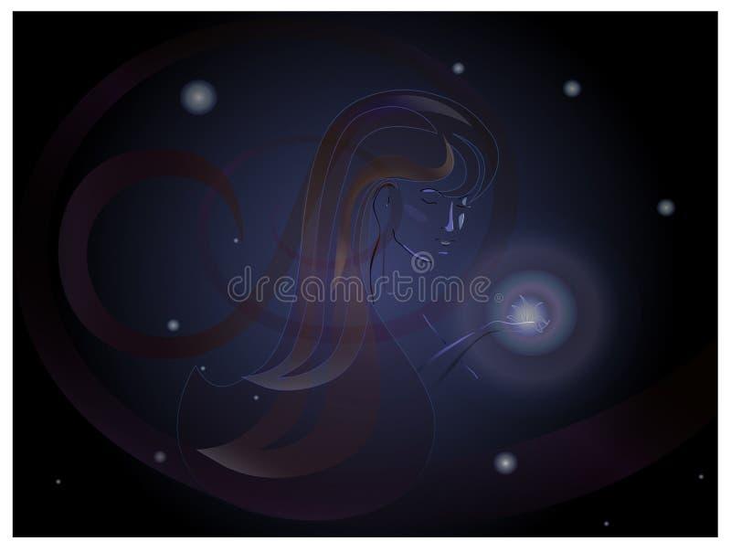 Gwiazdy kobieta ilustracja wektor