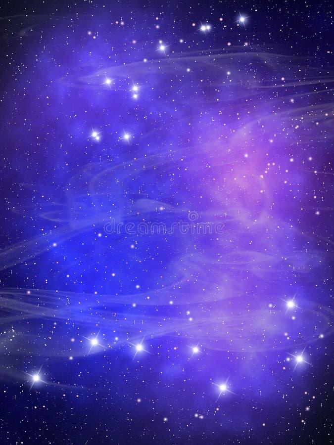 Gwiazdy na niebie royalty ilustracja