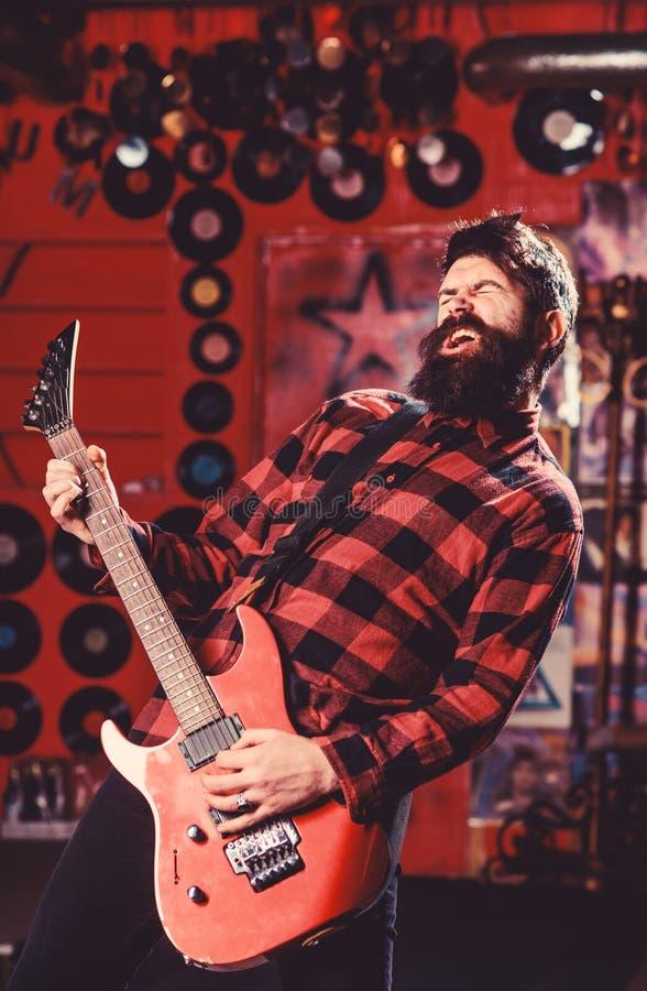 Gwiazdy rocka pojęcie Potomstwa kołysają muzyka, piosenkarz, utalentowany artysta zdjęcie stock