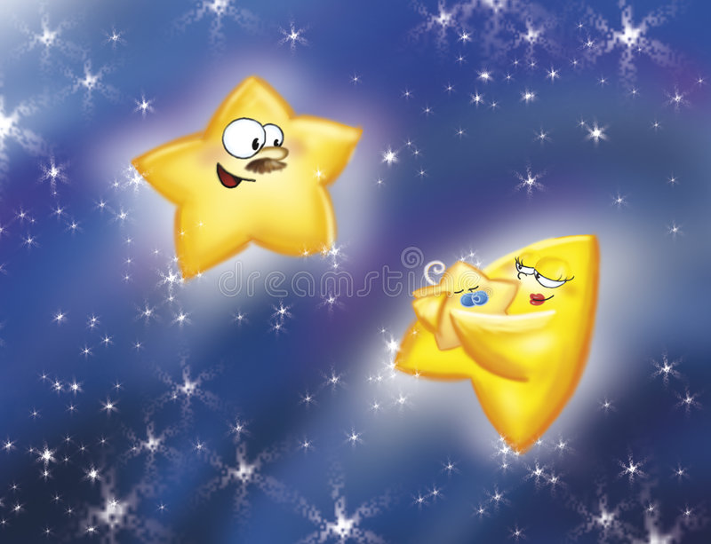 gwiazdy rodzinne ilustracja wektor