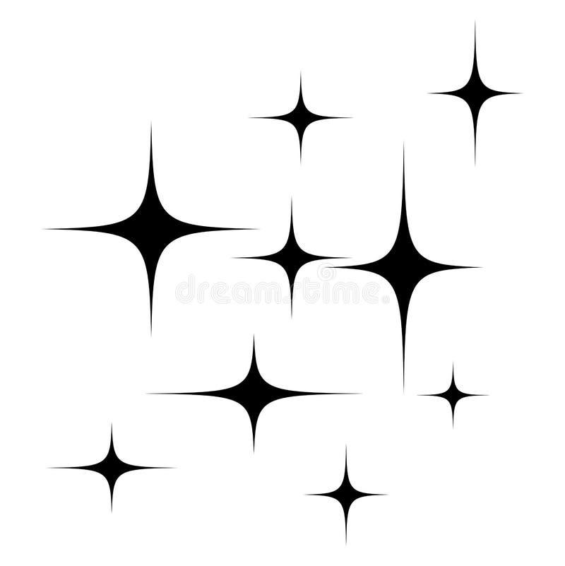 Gwiazdy sylwetki symbolu ikony wektorowy projekt ilustracja wektor