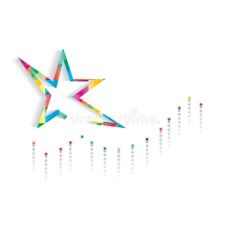 Gwiazdy uderzenia karta ilustracja wektor