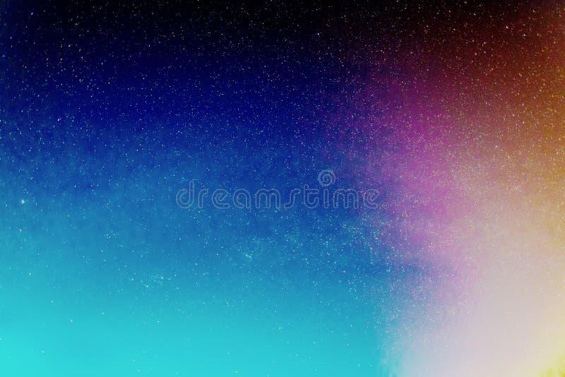 Gwiazdy w nocnym niebie fotografia stock