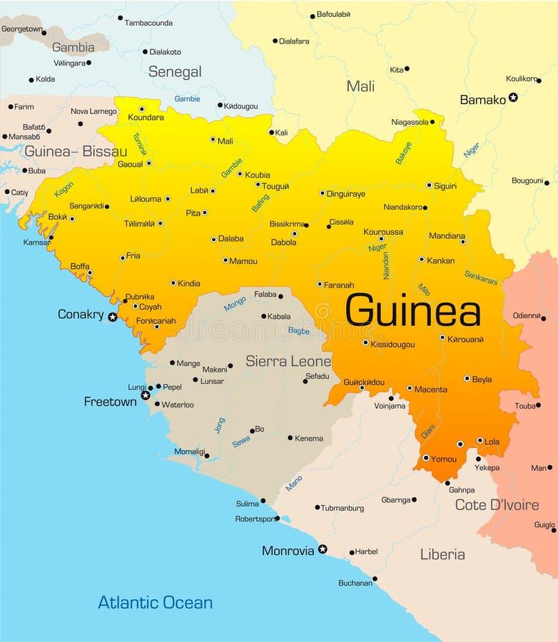 Gwinea ilustracja wektor