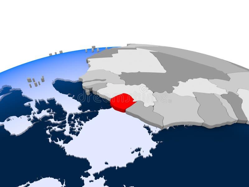 Gwinea na politycznej kuli ziemskiej ilustracji