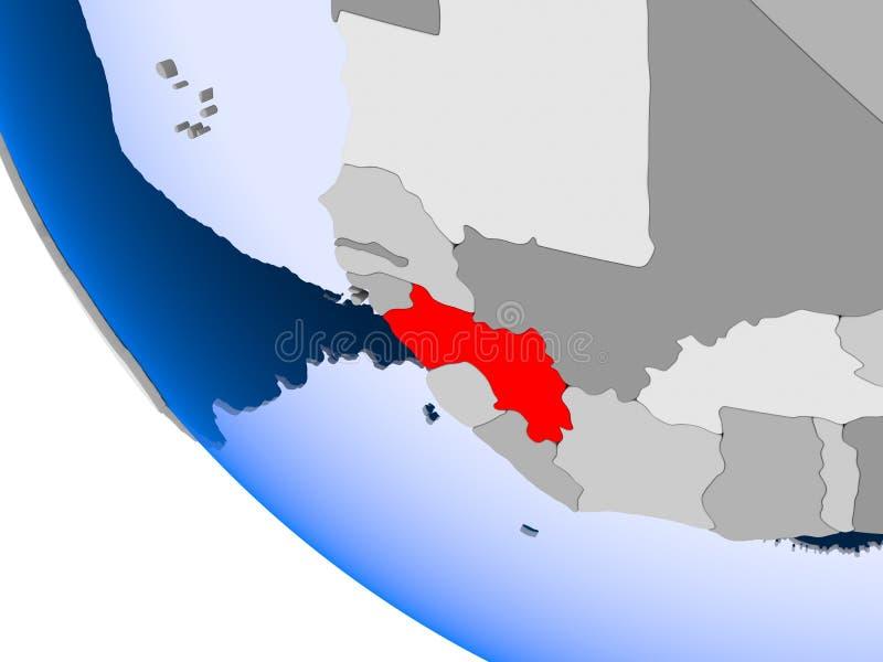 Gwinea na politycznej kuli ziemskiej royalty ilustracja