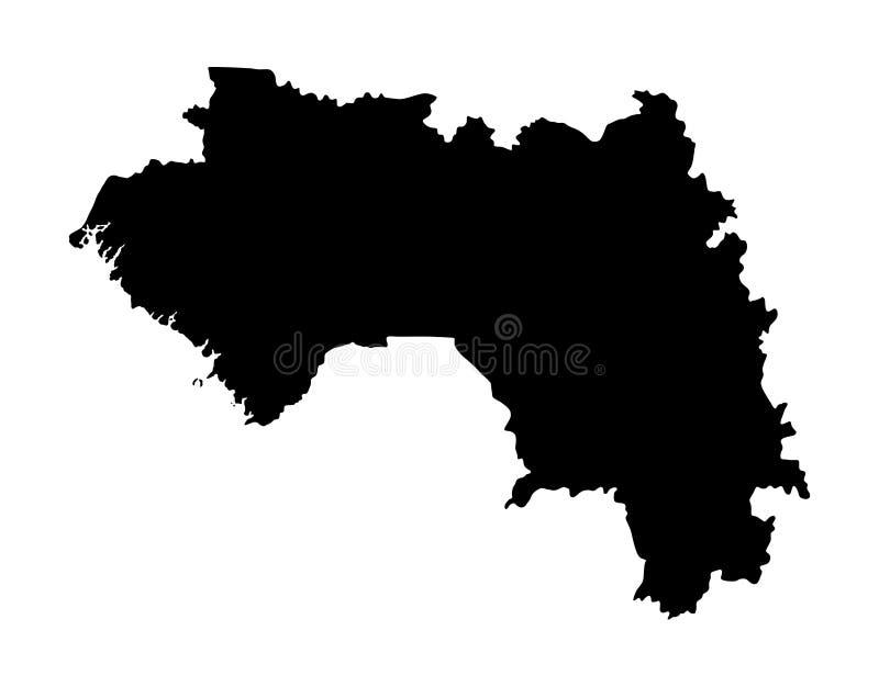 Gwinei mapy sylwetka ilustracja wektor