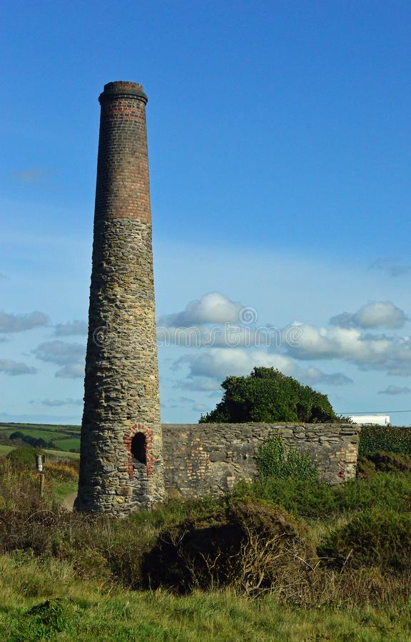 Gwithian Chimney Stack royalty free stock photography