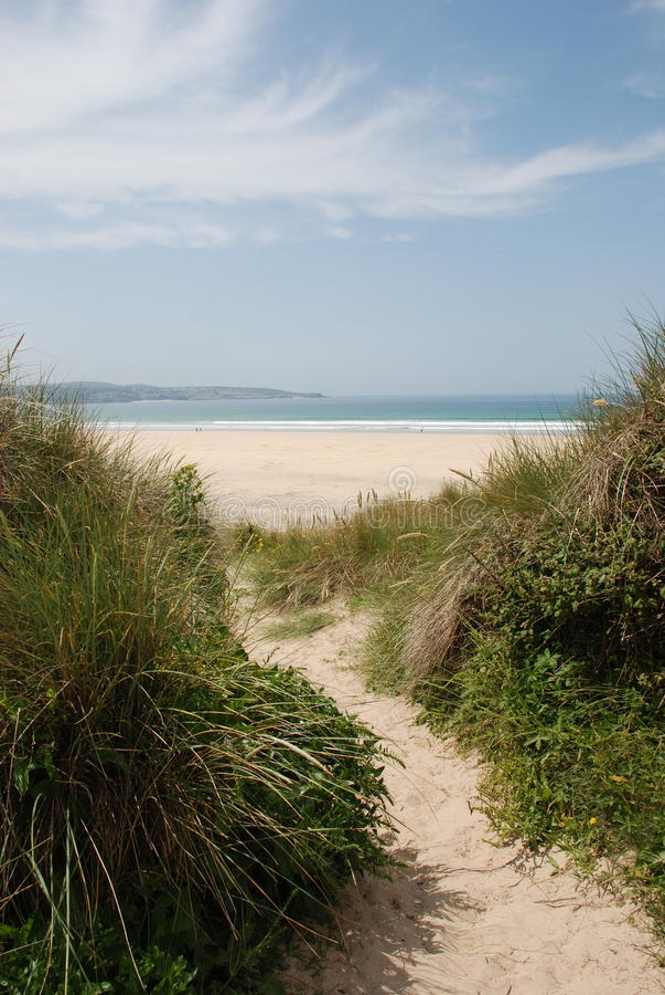 Gwithian plaża, Cornwall zdjęcie royalty free