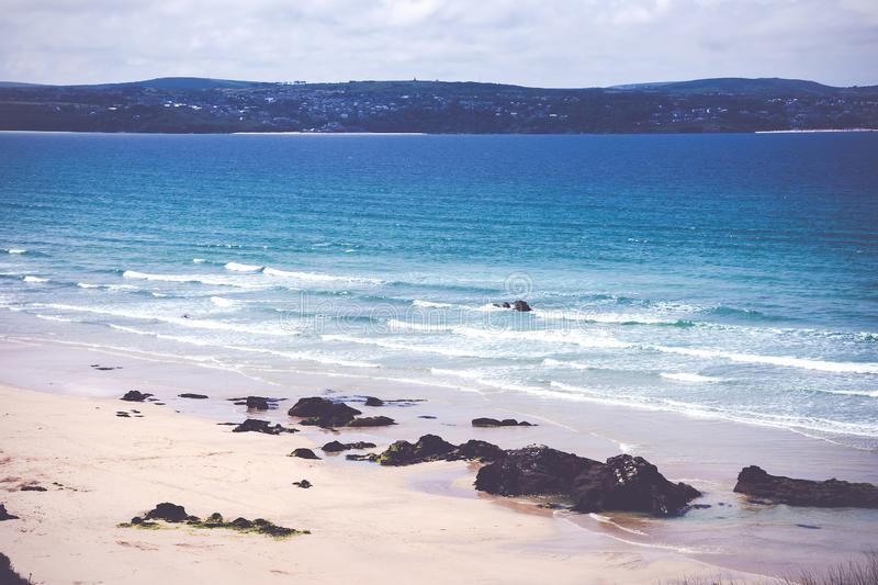 Gwithian, St Ives Baai stock fotografie