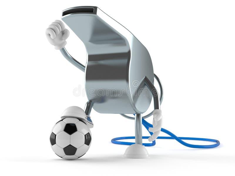 Gwizd charakter z piłki nożnej piłką ilustracja wektor