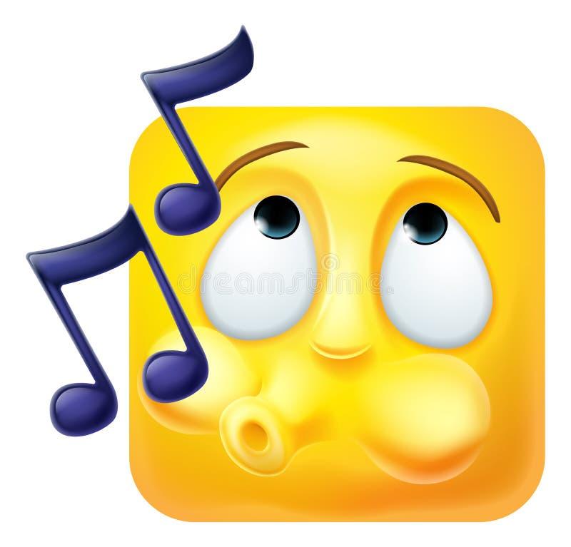 Gwizdać Emoji Emoticon ikony 3D postaci z kreskówki ilustracji