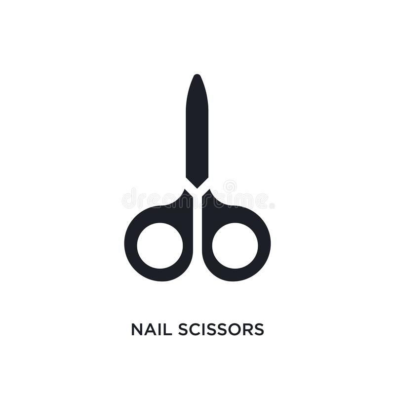 gwoździ nożyc odosobniona ikona prosta element ilustracja od higieny pojęcia ikon gwoździ nożyc logo znaka editable symbol ilustracja wektor