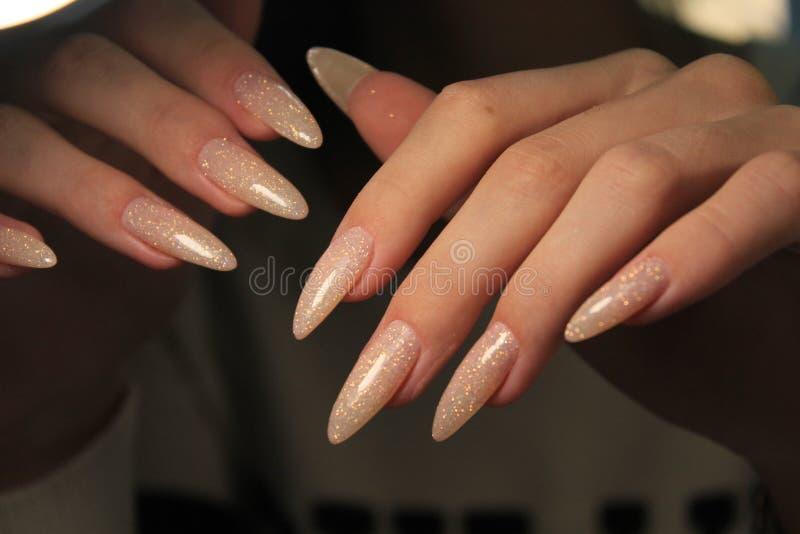 gwoździa manicure na rękach zdjęcia royalty free