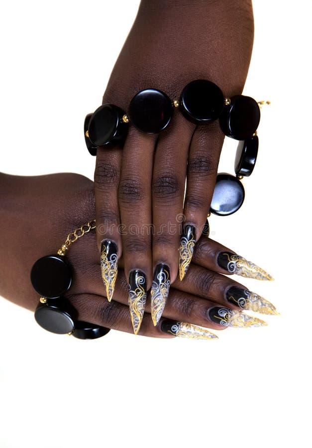 Gwoździa projekta manicure obrazy stock