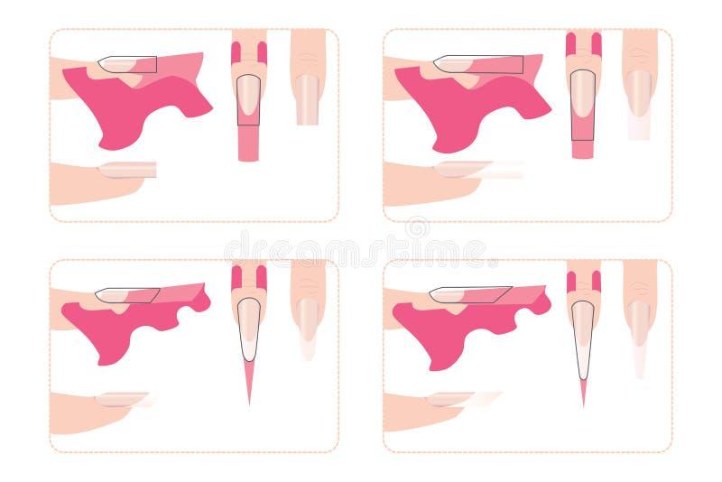 Gwoździa rozszerzenie dla różnych kształtów ilustracji