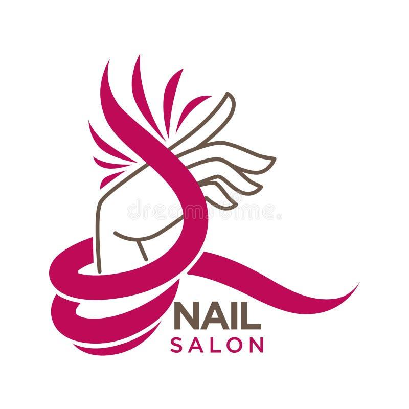 Gwoździa studio lub manicure'u salonu ikony wektorowy płaski szablon ilustracji