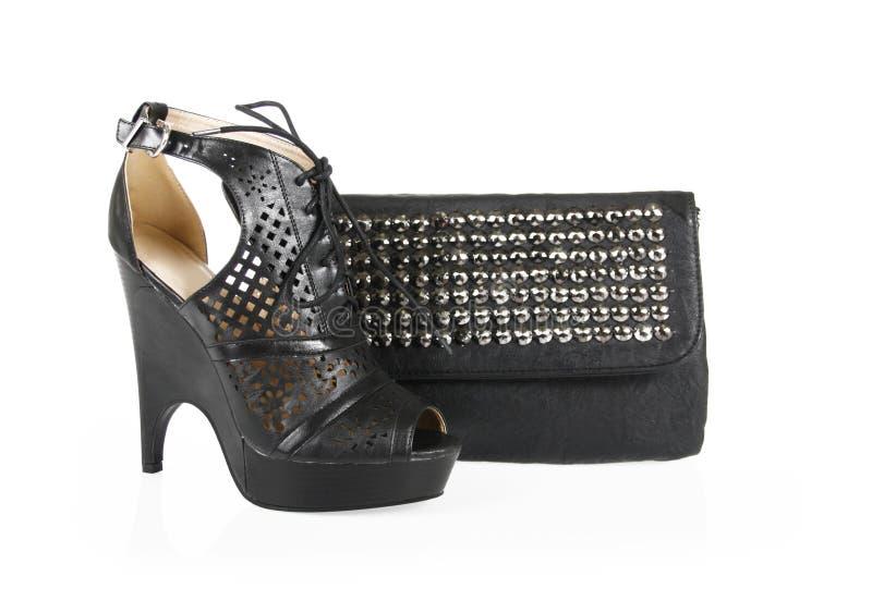 gwożdżący czarny torba buty obrazy royalty free