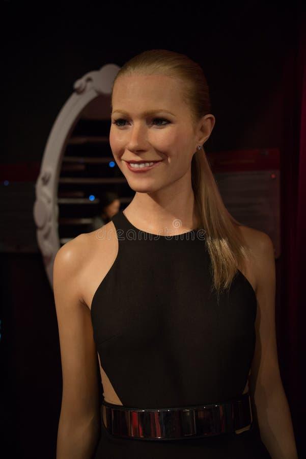 Gwyneth Paltrow en el museo de señora Tussauds imagenes de archivo