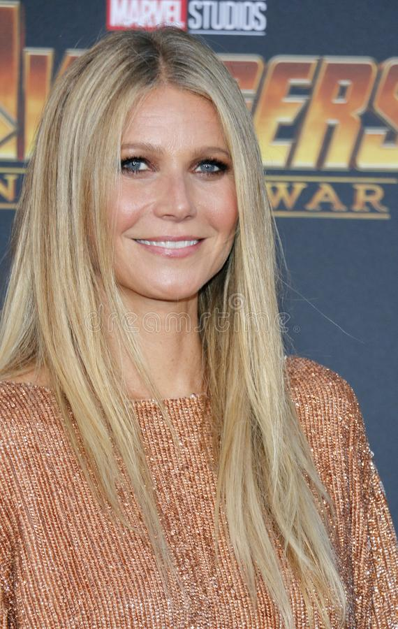 Gwyneth Paltrow. At the premiere of Disney and Marvel`s `Avengers: Infinity War` held at the El Capitan Theatre in Hollywood, USA on April 23, 2018 royalty free stock photos
