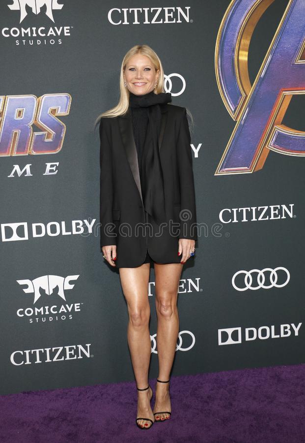 Gwyneth Paltrow. At the World premiere of `Avengers: Endgame` held at the LA Convention Center in Los Angeles, USA on April 22, 2019 stock photo