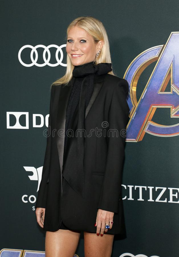 Gwyneth Paltrow. At the World premiere of `Avengers: Endgame` held at the LA Convention Center in Los Angeles, USA on April 22, 2019 stock image