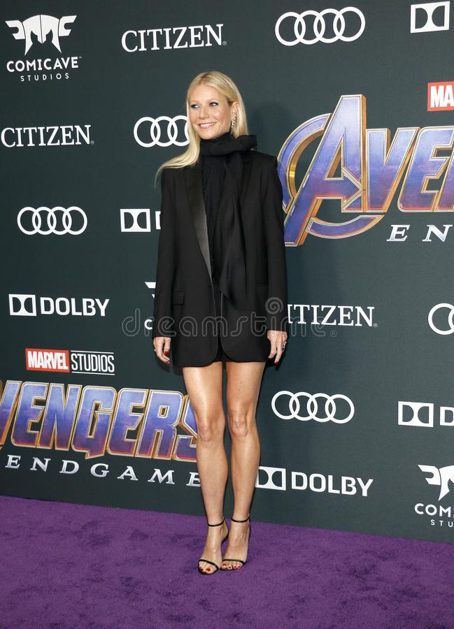 Gwyneth Paltrow. At the World premiere of `Avengers: Endgame` held at the LA Convention Center in Los Angeles, USA on April 22, 2019 stock images