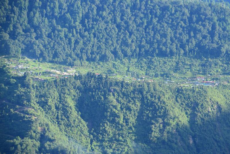 Gyang de Melamchi a última vila do sindhupalchok nepal do helambu imagem de stock royalty free