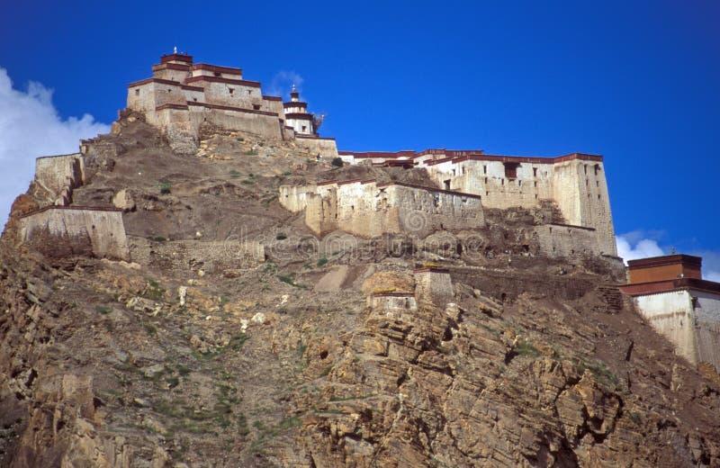 Gyantse Fort, Tibet stockbilder