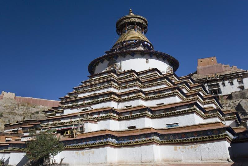 Gyantse Kumbum - Tíbet foto de archivo libre de regalías