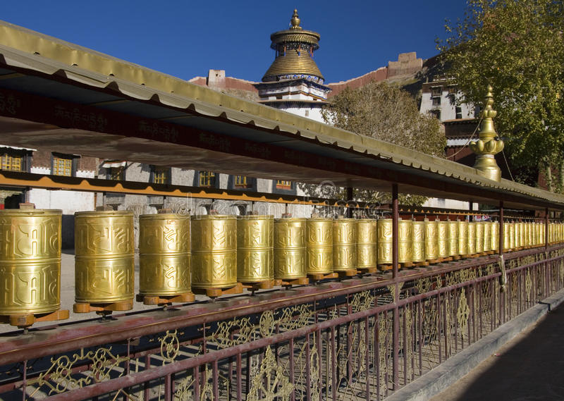 Gyantsie Kumbum - Tibet imagem de stock royalty free
