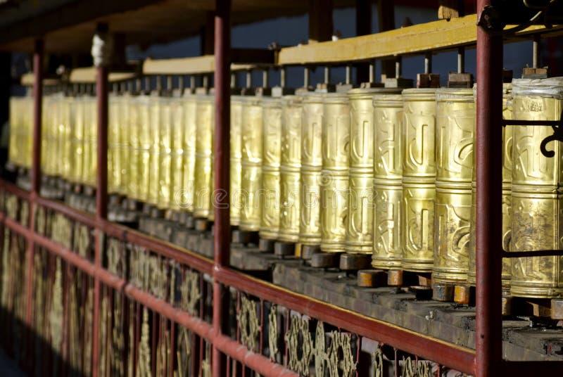 gyantze monasteru modlitwy koła zdjęcia stock